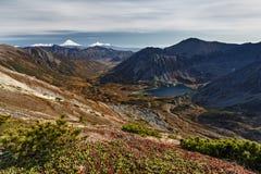 美好的山秋天风景 库存图片
