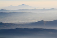 美好的山脉 库存照片