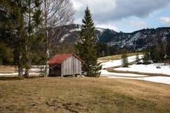 美好的山风景在巴伐利亚 库存照片
