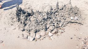 美好的山风景由沙子制成 免版税库存图片
