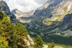 美好的山风景,岩石高Tatras,斯洛伐克 免版税库存照片