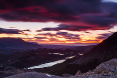 美好的山风景 免版税库存照片