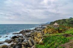 美好的岩层在和平海岛,台湾(接近) 免版税图库摄影