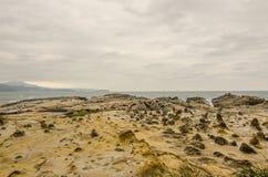 美好的岩层在片断海岛,基隆,台湾台湾 库存图片