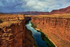 美好的峡谷横向大理石夏天 免版税库存照片