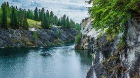 美好的峡谷横向大理石夏天 库存照片