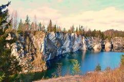 美好的峡谷横向大理石夏天 免版税库存图片