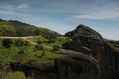 美好的峰顶风景在山的从希腊 免版税库存图片