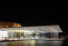 美好的巴林国家戏院门廊  免版税图库摄影