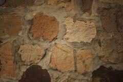 美好的布朗混凝土墙背景 库存照片