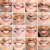 美好的微笑不同种族的小组微笑概念 库存图片