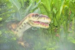 美好的恐龙雕塑 免版税图库摄影