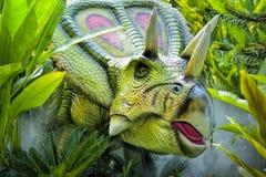 美好的恐龙雕塑 库存图片