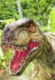 美好的恐龙雕塑 图库摄影