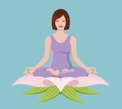 美好的执行的女孩瑜伽 免版税图库摄影