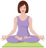 美好的执行的女孩瑜伽 库存照片