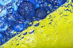 美好的抽象五颜六色的背景,水表面上的油 库存图片