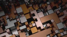 美好的抽象立方体形状 股票视频