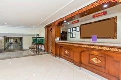 美好的接纳地区在便宜的旅馆 免版税库存照片