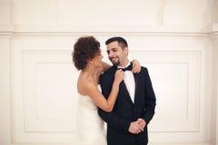 美好的新娘夫妇 免版税图库摄影
