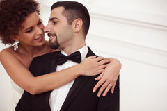美好的新娘夫妇 库存照片