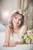 美好的新娘微笑 库存图片