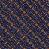 美好的无缝的东部地毯装饰样式、抽象装饰品在周围和正方形或者菱形元素 纹理backg 图库摄影