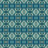 美好的无缝的东部地毯装饰样式、抽象装饰品在周围和正方形或者菱形元素 纹理backg 库存图片