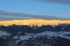美好的日出冬天 库存图片