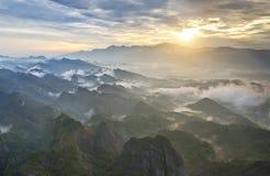 美好的日出在桂林,中国 库存图片