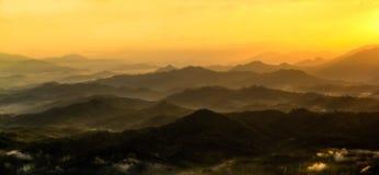 美好的日出风景照片  免版税图库摄影