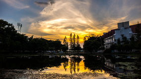 美好的日落。 免版税图库摄影