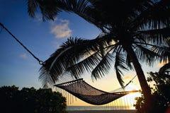 美好的日落假期 免版税库存图片