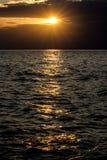 美好的日落在克罗地亚 免版税库存照片