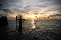 美好的日落在基韦斯特岛 库存照片