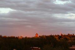 美好的日落在夏天 库存照片