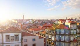 美好的日落在波尔图 葡萄牙 库存照片