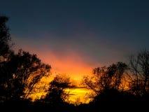 美好的日落在Prahova 免版税库存照片