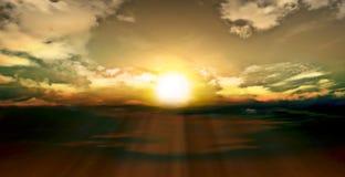 美好的日落自然图象 免版税库存图片