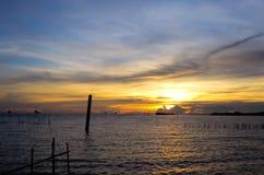 美好的日落视图泰国 免版税库存图片