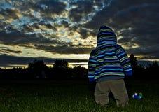 美好的日落,大梦想 库存照片