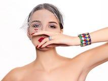 美好的时装模特儿 免版税图库摄影