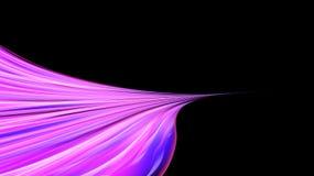 美好的明亮的紫色线和条纹,波浪,与曲线的火焰桃红色摘要精力充沛的不可思议的宇宙火热的纹理  库存例证