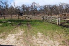 美好的春天农厂风景在伊利诺伊 免版税库存照片