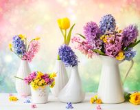 美好的春天开花花束 库存图片