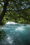美好的晴朗的夏日在Krka国家公园克罗地亚欧洲 图库摄影