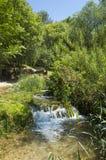 美好的晴朗的夏日在Krka国家公园克罗地亚欧洲 免版税库存照片
