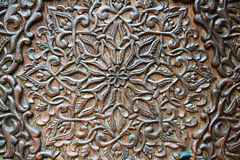美好的木雕刻设计和装饰 免版税库存图片