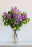 美好的束在花瓶的丁香 库存图片