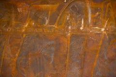 美好的样式老金属铁铁锈纹理,吸收的朽烂用途 免版税库存照片